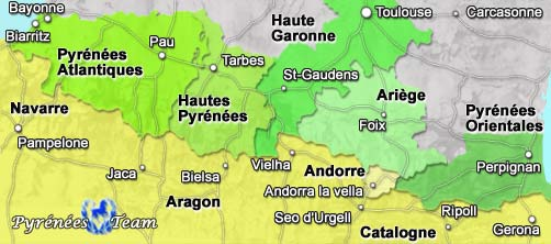Info • chaine pyrenees carte • Voyages - Cartes